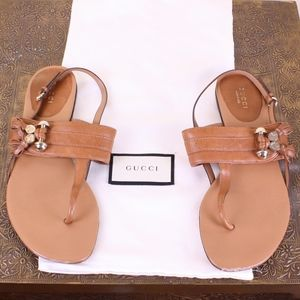 Gucci Leather Sandles with Tassels & Dust Bag